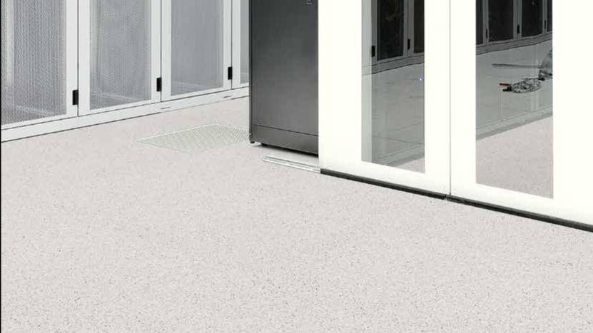 Tarkett geleidende vloer voor serverruimte
