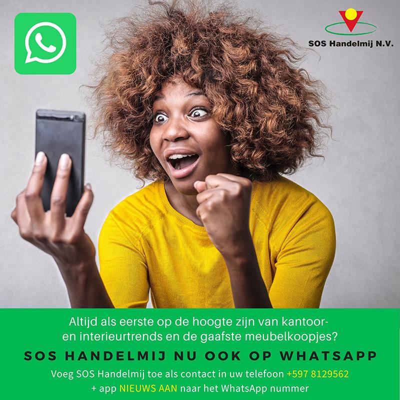 Meubel aanbiedingen via WhatsApp ontvangen