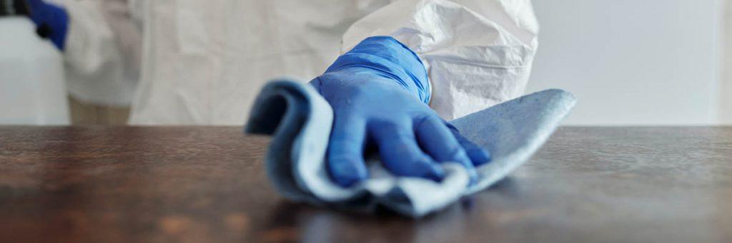 Hygienische maatregelen voor kantoor Covid-19 desinfectie
